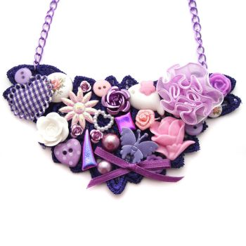 Purple Lace Necklace by fairy-cakes