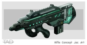 Rifle concept art by JoshCalloway
