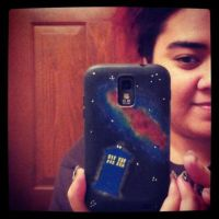 tardis phone cover by noxzimbyp