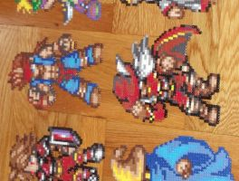 Final Fantasy 1 Perler Cast by TheSuperBoris