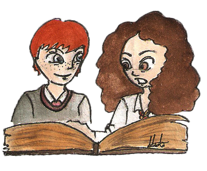 Ron X Hermione for pigwigeon by hatoola13