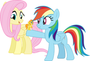 Fluttershy! Look what Twilight's shrink ray did! by DaringDashie