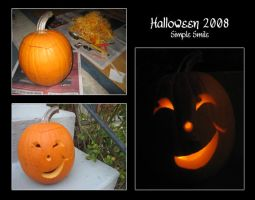 2008 Halloween Pumpkin - Simple Smile by thamuria