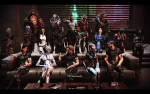 ME3 Citadel DLC - Cortana Shepard's Family Photo by chicksaw2002