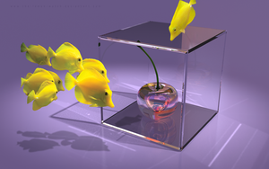 Special 3D Glass Cherry by THE-LEMON-WATCH