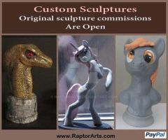 Original Sculpture Commissions Are Open by RaptorArts