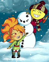 Collab: This Snowman Looks Like Me! by Crystal-Zen