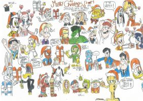 Merry Christmas's Doodles part 1 (2012) by FelixToonimeFanX360