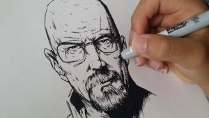 Drawing Walter White from Breaking Bad by SamuelEliasYT