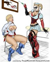 Power Girl and Harley Quinn by powerbook125
