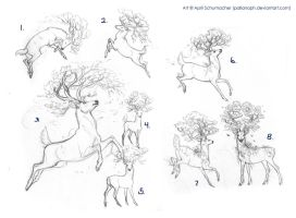 Tattoo sketches for Ash-wolf by pallanoph