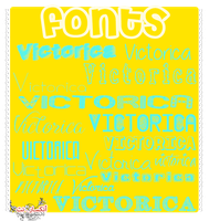 Fonts#3 by victoricaDES