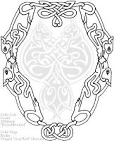 Celtic Dogs border tattoo by Illahie