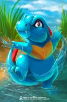Totodile by ArtKitt-Creations