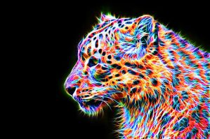 Colorful Leopard VIII by megaossa