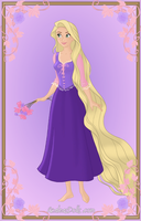 Rapunzel { Purple Dress } by kawaiibrit