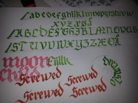 Calligraphy Alphabet by Milenist