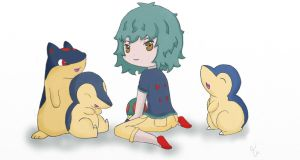 Come Out Baby Cyndaquil by twizzlerfox