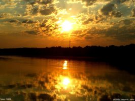 Langley pond sunrise 7-3-09-7 by Joseph-W-Johns