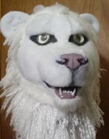 Albino Lion Head by pariahpoet