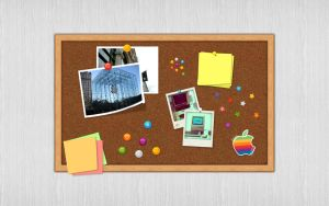 The Apple Pinboard Wallpaper by philipskillern