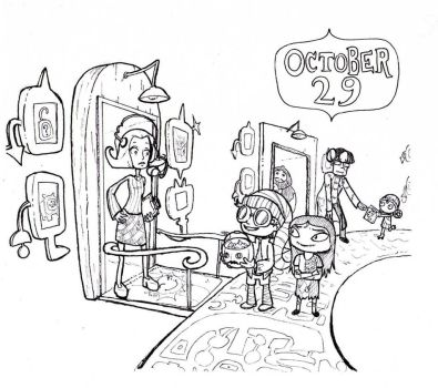 Inktober Day 29: Psychic Trick or Treating by CaptainQuestion