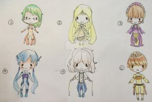 [Adoptables] Collab 1 [OPEN 1/6] by Eliam34