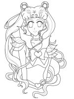 Super Sailor Moon Lineart by agateczka21