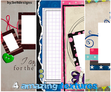 4 Amazing Textures by bettdesigns