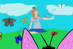 Katie and Butterflies - BurgerforLunsh's Contest by ethereal-dancer