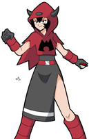 MAGMA ADMIN COURTNEY would like to battle! by MargaritaTaichou