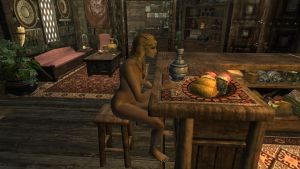 Vetrheim: Langwen trying to drown her sorrows by Althewarlord
