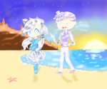 .:Collab:. | A Lovely Stroll~ by Stewie106