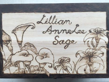 Lilies Woodburned by Koolestgtl