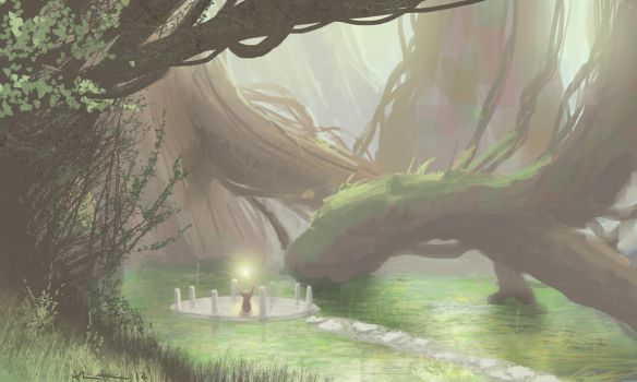 speed painting forrest magican by Fresh-H
