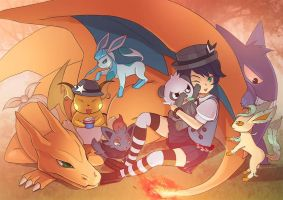 Collab-Comm-Tales Pokemon Team by talespirit