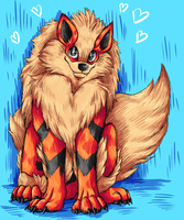 Big Fluffy Arcanine by snuddi