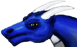 Blue Dragon Bust by Hectichermit