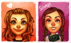 Portrait x2 by NatSmall