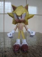 Super Sonic Papercraft (prototype version) by augustelos