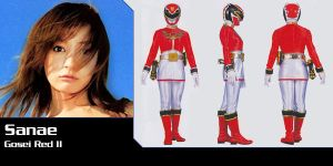 Sanae, Alata and Eri's daughter, new Gosei Red by Andr-uril