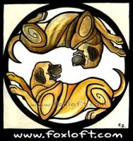 Yin Yang Dogs - Mastiffs by Foxfeather248