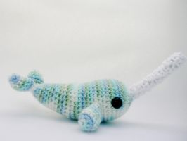 narwhal amigurumi by e1fy