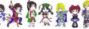 Soul Calibur 4 Chibies Set by therichnobody