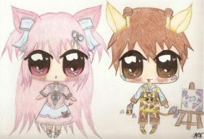 Kemonomimi adopts, Auction Pig and Giraffe *open* by kiyoshi-seishin