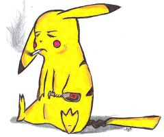 Pikachu's had enough.. by DarkPanther419