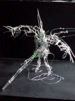 Wing Zero Custom in wire (firing pose) by pepele