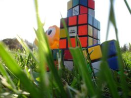 Rubiks anniversary III by i-know-pain-