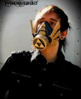Hylian ''Hero of time'' Legend Of Zelda gas mask by TwoHornsUnited