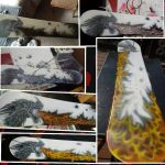 Photo collage step by step of Dragon board project by moose-lee